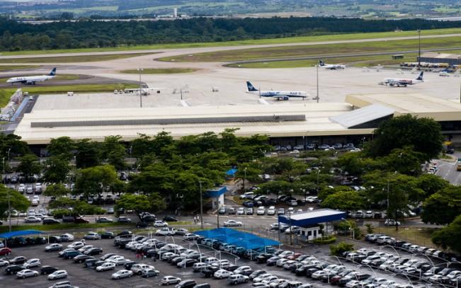Vista do aeroporto de Viracopos, em Campinas, arrematado em leilão em 2012 e que passa por obras de expansão