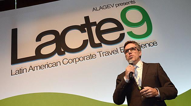 O presidente da Gol, Paulo Kakinoff, em apresentação para participantes do Lacte, na capital paulista