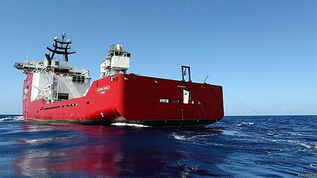 Navio Ocean Shield é um dos que usa tecnologias especiais de localização