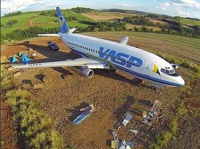 Imagem do avião da Vasp