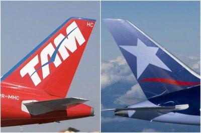 Marcas e nomes da TAM e Lan devem ser únicas a partir de 6 de agosto de 2015