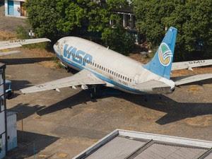 Vasp teve a falência decretada em 2008 e teve aeronaves leiloadas (Foto: Daigo Oliva / G1)