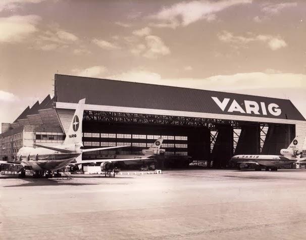 Centro de manutenção na Ilha do Governador-RJ, no Aeroporto Internacional do Galeão, um dos maiores da América Latina (Arquivo/Varig)