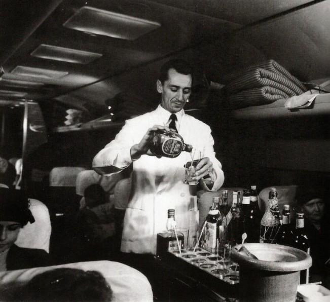 Serviço de bordo da Varig nos tempos de ouro da aviação (Arquivo/Varig)