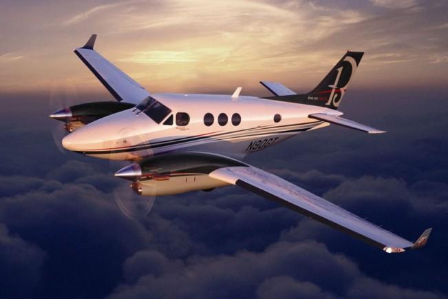 O modelo C90 é a menor versão do King Air, com espaço para até oito ocupantes (Divulgação)